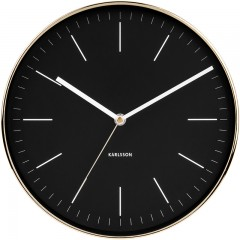 Karlsson klok Minimal Black Shiny Gold KA5695BK